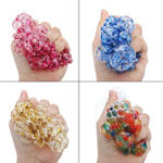 Оригинал Squishy MultiColor Mesh Stress Relief Игрушечный мяч Squeeze Stressball Party Сумка