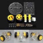 Оригинал 2WD Круглый двухэтажный DIY Смарт-шасси Авто DIY Набор Для Arduino
