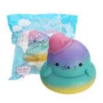 Оригинал Пляжный Медведь Squishy 11.5 * 13CM Медленный рост Soft Коллекция подарков для подарков с упаковкой