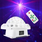 Оригинал 9 Color DMX Дистанционный R & G Лазер Gobos LED Crystal Big Волшебный Ball DJ Stage Light для рождественской вечеринки