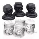 Оригинал Гибкий Силиконовый Череп Форма 3D Ice Cube Лоток-производитель форм Шоколадный пресс-бар Холодные напитки Виски