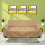 Оригинал ХакиPetДиванДиванЗащитнаякрышка Съемный W / ремень Водонепроницаемы 3 Seater Carpet