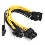 Оригинал 5pcs PCI-E 8-pin to 2x 6+2-pin Power Splitter Cable PCIE PCI Express Splitter Ribbon Miner Cable
