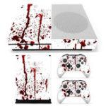 Оригинал Кровавые наклейки с наклейками наклейки для Xbox One S Игровая консоль и 2 контроллера