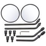 Оригинал Диаметр 105 мм Ретро Round Rearview мотоцикл Зеркала длинная / короткая ручка для Harley Davidson