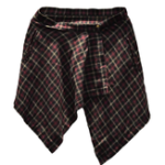 Оригинал Men's Irregular Plaid Printed Calf-Length Culottes