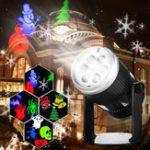 Оригинал 6 Шаблоны 4W LED Сценический свет Лазер Проектор Лампа Пейзаж Сад Декор для Хэллоуина Рождество