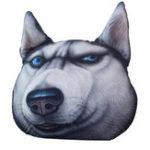 Оригинал KCASA3D-принтСобакаeKabosuподушкаплюшевый шарж подушки Husky Акита подушки автомобиля Creative собака формы Nap Pillow милые подушки сиден