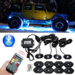 Оригинал Водонепроницаемы Wireless Bluetooth Музыка LED RGB Внедорожник Rock Light Accent Авто Внедорожник Запчасти для мотоцикла Rc