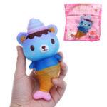 Оригинал Squishy Galaxy Bear Fish Slow Rising Collection Toy Soft Подарок с упаковкой