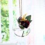Оригинал 10x10cm Clear Ball Glass Висячие вазы Бутылка Terrarium Контейнерный завод Flower Home Garden DIY Decor