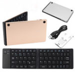 Оригинал Mini Wireless Foldable Клавиатура Bluetooth 3.0 66Keys Беспроводная перезаряжаемая Клавиатура