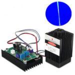 Оригинал 450nm 3500mW Blue Лазер Модуль с 12-вольтовой TTL-модуляцией для DIY Cutter Carving