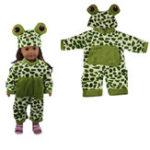 Оригинал Sleeping Baby Frog Shape Кукла Одежда для 18-дюймовой американской девушки без ребенка-новорожденного