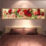 Оригинал DIY5DБриллиантоваямозаикаВолшебныйCube Роза Бриллиантовая вышивка Картина Rhinestone Cross Stitch Роза Flower DIY Алмазная вышивка Цветочн
