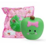 Оригинал Симпатичное выражение Apple Squishy 10 * 11 * 7CM Slow Rising Soft Коллекция подарков для игрушек с упаковкой