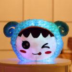 Оригинал МигающийплюшевыйподушкаEnojiфаршированныйсветодиодный свет Cute Sheep Toy Светящаяся подушка цветful Animal Кукла