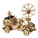 Оригинал 3D Деревянные игрушки головоломки Рождественский подарок на день рождения Сбор Солнечная Энергия Powered Луна Багги Обучить модель
