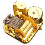 Оригинал 18 Примечание Механический DIY Windup Music Коробка Движение с винтами Ключ