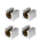 Оригинал Machifit 4шт. Твердый полимер SBR16UU 16мм Открытый линейный подшипниковый слайдер CNC-маршрутизатор Linear Slide