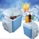 Оригинал Портативный7,5-литровыймини-АвтоХолодильник-морозильникКулер/ нагреватель 12В Портативный холодильник