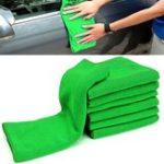 Оригинал 10шт Soft Ткань для очистки Green Micro Fiber Авто Автоe Duster Полотенце 29x29cm