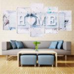 Оригинал 5ПанелиБелаяЛюбовьГЛАВНАЯСтена Art Печать Картины Холст Стена Картина Без рамки для домашнего украшения