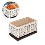 Оригинал 4В1японскомкорейскомКерамический Hibachi BBQ Table Grill Yakitori Барбекю Уголь для приготовления древесного угля