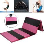 Оригинал 118×47×2inchСкладной гимнастический коврик Yoga Упражнение тренажерный зал Airtrack Panel Tumbling Восхождение Pilates Pad Air Track
