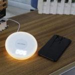 Оригинал Qi Быстрое зарядное устройство Часы Ночное освещение Беспроводное зарядное устройство для iPhone 8 / 8P iPhone X Samsung S8