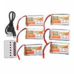 Оригинал 6PCS ZOP POWER 3.7V 1200mAh 30C 1S Lipo Батарея JST Plug с зарядным устройством для моделей RC