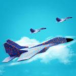 Оригинал 44см Дети На открытом воздухе Самолет Самолет взлетно-посадочной полосы Запуск Летающий планер EPP Пенная модель самолета