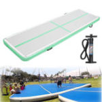 Оригинал 118x35x4inch Green Color Airtrack Гимнастика Мат Пол Надувной GYM Air Track Mat Home Tumbling Rolling Mat With Hand Насос