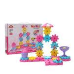 Оригинал 48pcs MoFun Girl Theme DIY Собранные ручные вращающиеся шестерни для сборки комплектов Обучающие игрушки