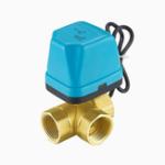 """Оригинал TMOK1/2""""3/4""""1""""BlueShell 3-ходовой моторизованный электрический латунный шаровой клапан 3 Провод Полный порт переменного тока 220 В"""