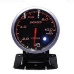 Оригинал 12V 2,5 дюймов 60 мм Шаг Мотор Цифровой LED Масло Измеритель давления манометра