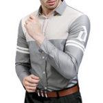 Оригинал СплетениесдлиннымрукавомлацканомТонкий Рубашки для дизайнеров для мужчин