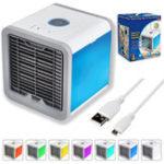 Оригинал USB Air Cooler Arctic Fan Air Персональный космический кулер 7 цветов LED Кондиционер для домашнего офиса