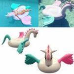 Оригинал Гигантский надувной единорог Pegasus плавающий плавательный Бассейн Пляжный Waterbed Party Toy