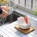 Оригинал 2PCSБелыйикрасныйСиликоновыйПолый тарелка для мытья губчатой посуды Кухня Ванная комната Чистка Инструмент Набор