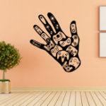 Оригинал Creative Palm Игровая ручка Домашний декор Стикер стены Винил Съемный Muurstickers Декоративные наклейки