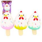 Оригинал Sanqi Elan Chick Ice Cream Squishy 12 * 6CM Slow Rising Soft Коллекция подарков для подарков с упаковкой