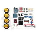 Оригинал 4WD DIY Smart Chassis Авто Набор Для Arduino с UNO R3 + Ультразвуковой модуль + Плата привода двигателя / двигатель 3-6v TT