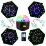 Оригинал LUSTREON 10W RGB LED Party Disco Crystal Волшебный Ball Effect Music Stage Light Звук активирован Дистанционный