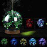 Оригинал 3D Effect Essential Масло Aroma Диффузор Ультразвуковой увлажнитель Light Воздухоочиститель Ароматерапия