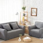 Оригинал ХлопокПолосатыйдиван-стулОбложкиStretchTight Wrap Slip-resistant Elastic Couch Protector Slipcover