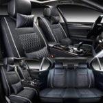 Оригинал 7PCSPUкожаАвтоЗащитныйчехол для сиденья с подушкой для талии Комплект для 5 Seat Автоs Universal
