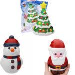 Оригинал Cooland Santa Claus Christmas Snowman Tree Squishy Soft Медленное продвижение с упаковкой