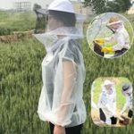 Оригинал Анти-Пчелиная одежда Cap Veil Breathable Half Body Beekeeping Защитный костюм Инструмент Anti Bird Net