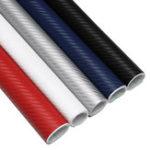 Оригинал 127x40cm 3D Carbon Fiber Vinyl Водонепроницаемы Car Wrap Sheet Roll Film DIY Стикер для автомобиля мотоцикл